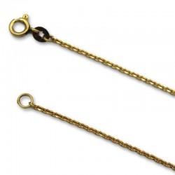 Cadena de oro de eslabon forzado