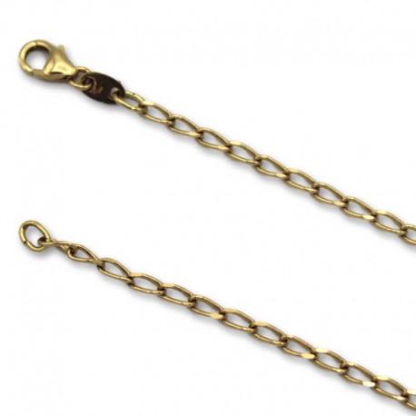 Cadena de oro con eslabon bilbao
