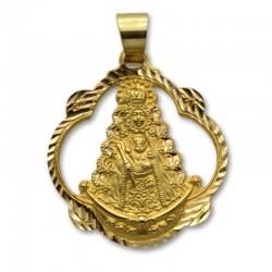 Medalla de oro virgen del Rocio calada