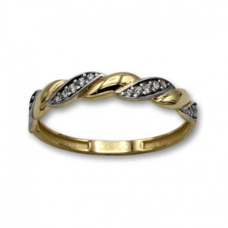 Sortija de oro con forma de espiga