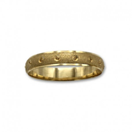 Alianza de oro en 4mm media caña y circulo