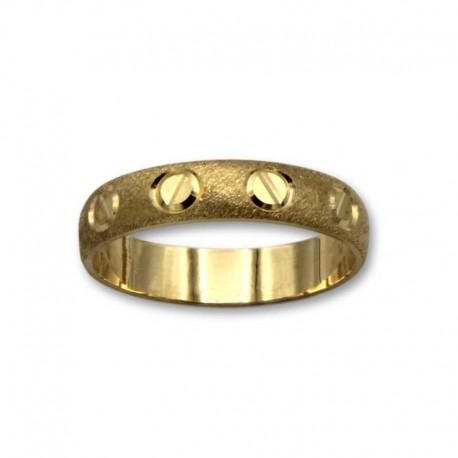 Alianza de oro en 4mm media caña mate