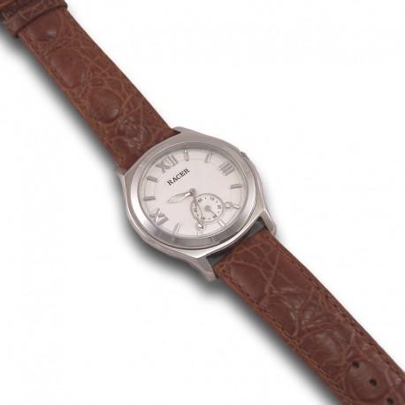 Reloj de acero y piel para caballero RACER