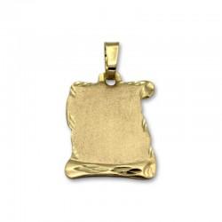 Medalla de oro pergamino mate