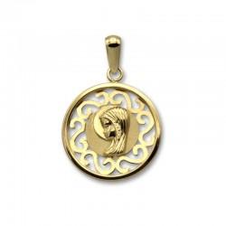 Medalla virgen niña de oro