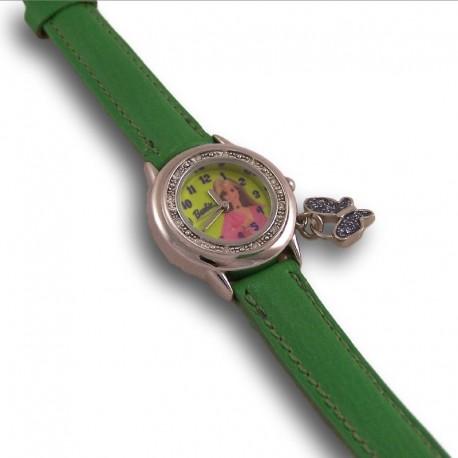 Reloj de acero y piel para niña Barbie