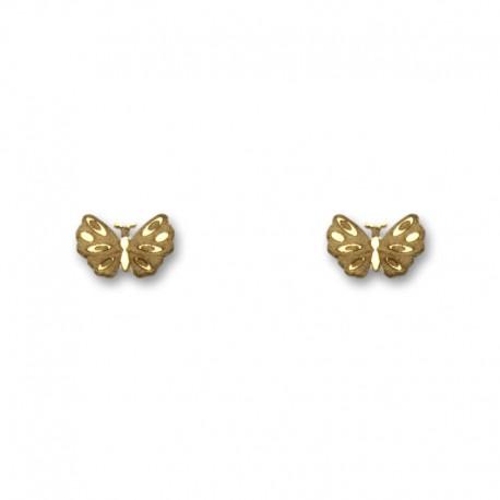 Pendiente de oro mariposa pequeño