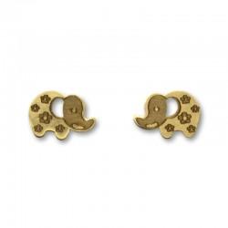 Pendiente de oro elefante grande