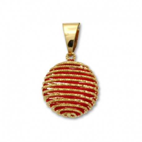Colgante en oro de bola roja