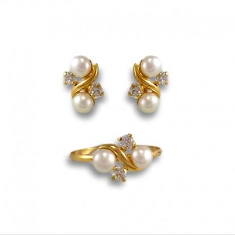 Juego de comunion dos perlas