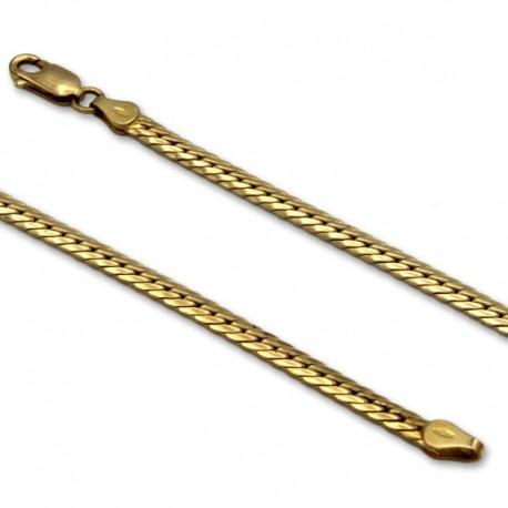Cadena de oro con eslabones de espiga
