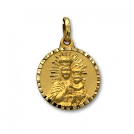 Medalla de oro escapulario 17mm
