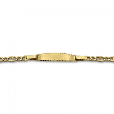 Esclava oro de diseño matizada