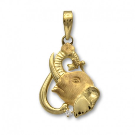 Colgante de oro de un elefante