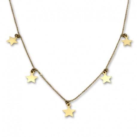 Gargantilla de oro fina con estrellas