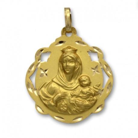 Medalla de oro virgen del Carmen 24mm