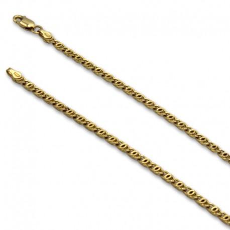 Cadena de oro con eslabon de diseño italiano marinero
