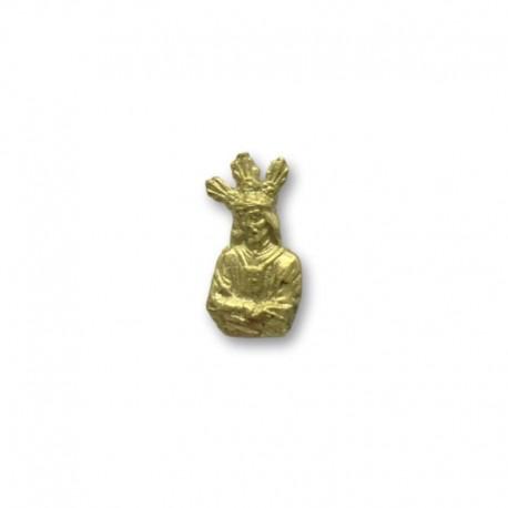 Medalla de oro de la silueta Jesús Cautivo 15mm