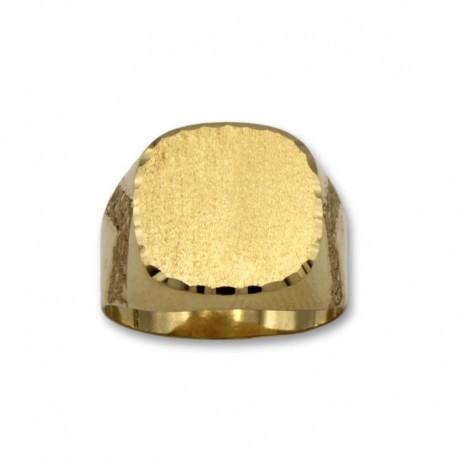 Sello de oro con forma cuadrada semihueco