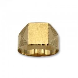 Sello de oro con forma rectangular semihueco