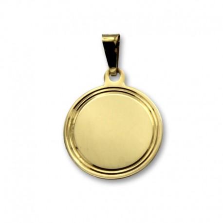 Colgante de oro circulo