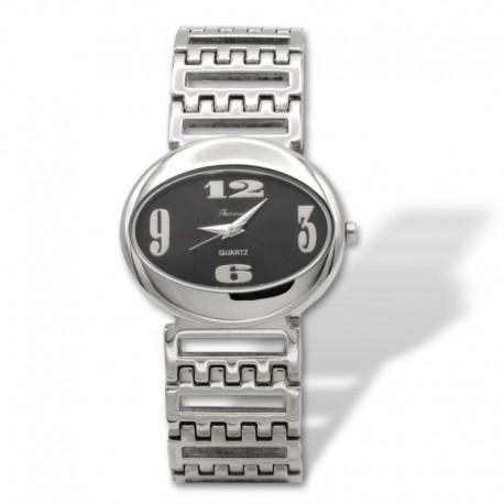 Reloj en acero ovalado para mujer Thermidor