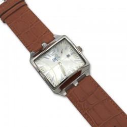 Reloj de acero y piel para caballero NBA