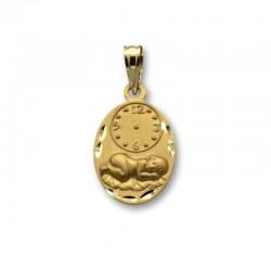 Medalla recien nacido con hora de oro