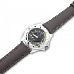 Reloj analógico niño Certus correa de piel gris