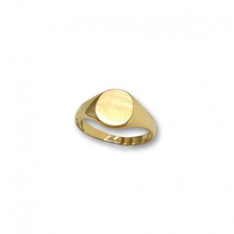 Sello de oro redondo liso