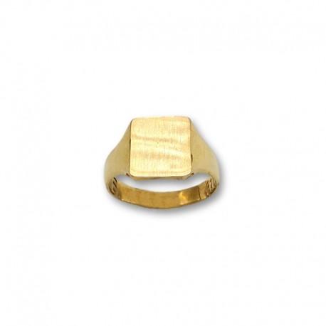 Sello de oro rectangular liso