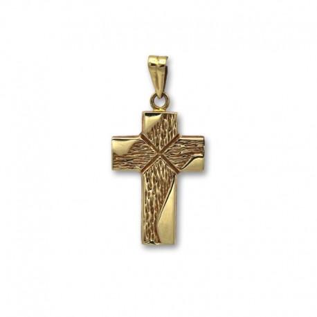 Cruz de oro de palos anchos