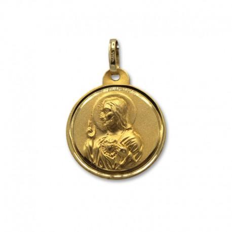 Medalla de oro escapulario mediana
