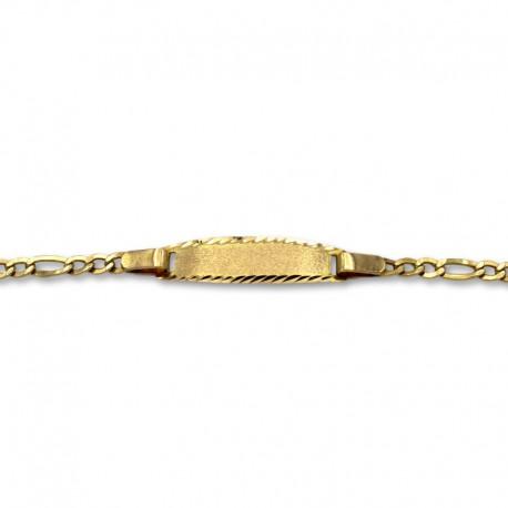 Esclava oro de diseño clasico 3x1