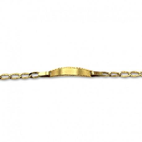 Esclava oro de diseño clasico matizada