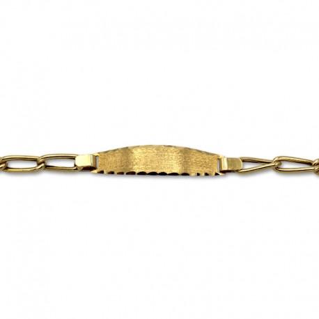 Esclava de oro diseño eslabones largos