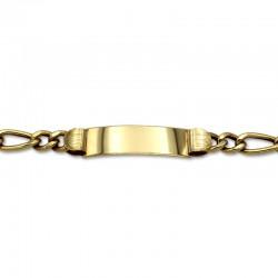 Esclava de oro caballero eslabones barbados 3x1