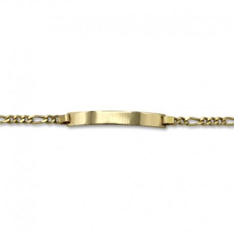 Esclava de oro diseño eslabones barbados 3x1
