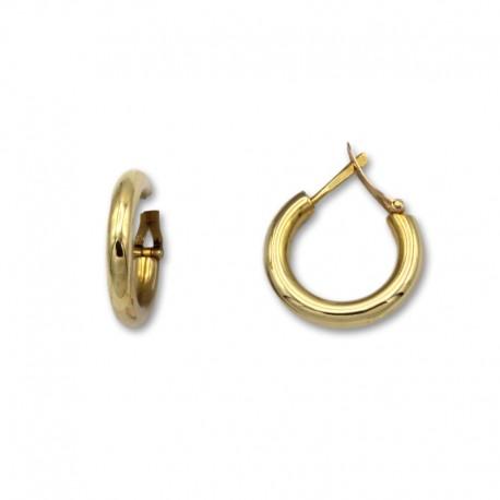 Pendiente aro redondo 18 mm de oro