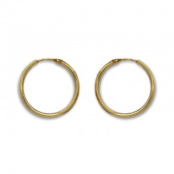 Pendiente aro redondo 23 mm de oro