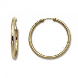 Pendiente aro redondo 39 mm de oro