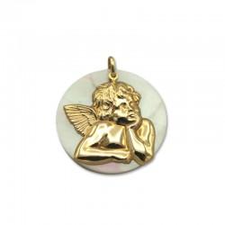 Colgante ángel de oro y nácar
