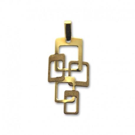 Colgante de oro cuadrados