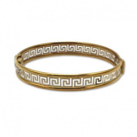Pulsera de oro greca