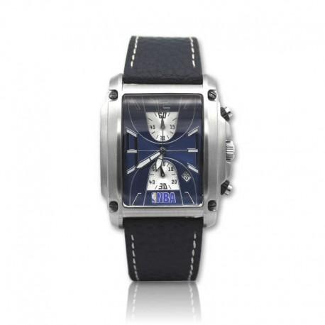 Reloj de acero para caballero NBA en acero y piel