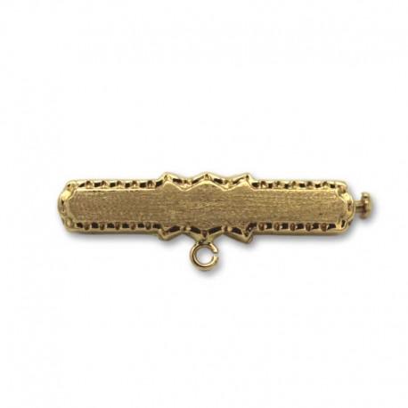 Alfiler de oro rectangular con asa