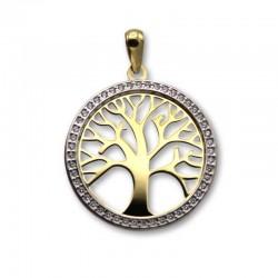Colgante de oro árbol de la vida y circonitas