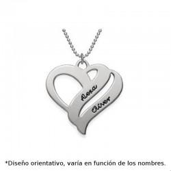 Colgante de plata personalizado de corazon