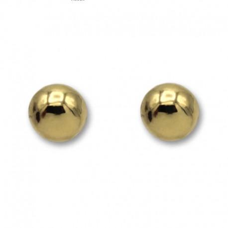 Pendiente de oro con bola lisa en 10 milímetros