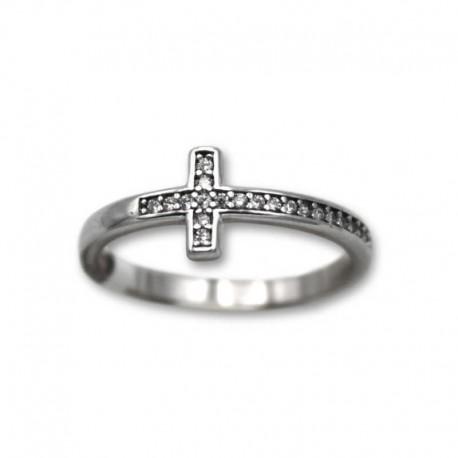 Anillo de plata con cruz